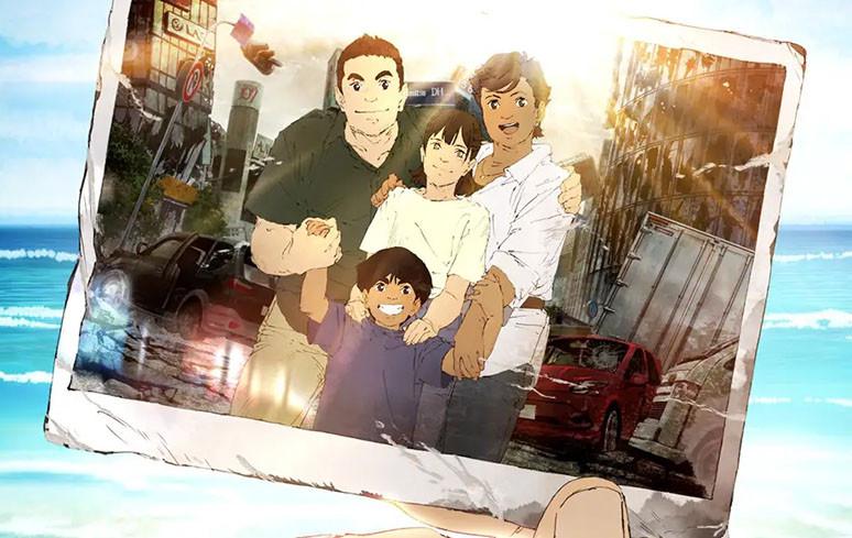 Foto da família Mutoh, que é composta por personagens otimistas, divertidos e inspiradores