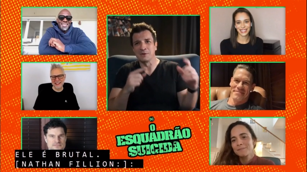 Parte do elenco de Esquadrão Suicida se diverte durante papo sobre o filme