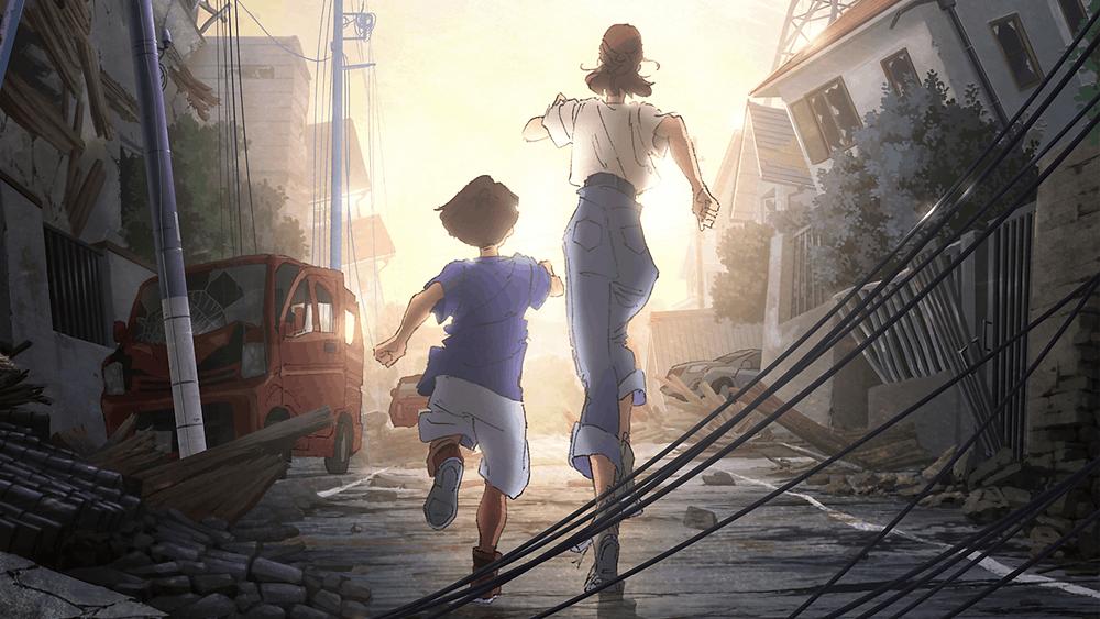 Família Mutoh, do anime da Netflix Japão Submerso
