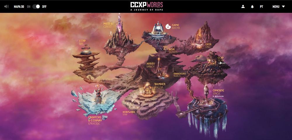 CCXP Worlds acerta em sua interatividade com plataforma linda e moderna
