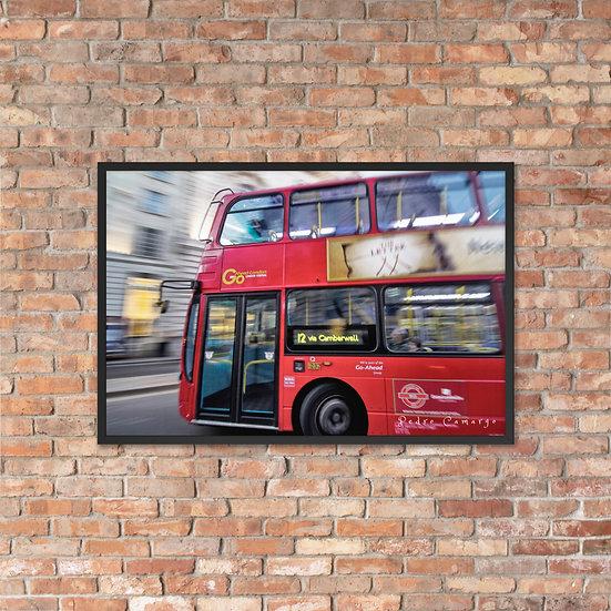 London Bus Framed