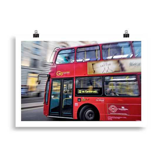 Double decker bus - Poster