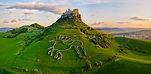 122x60 cm Spissky hrad sunset leto z dro