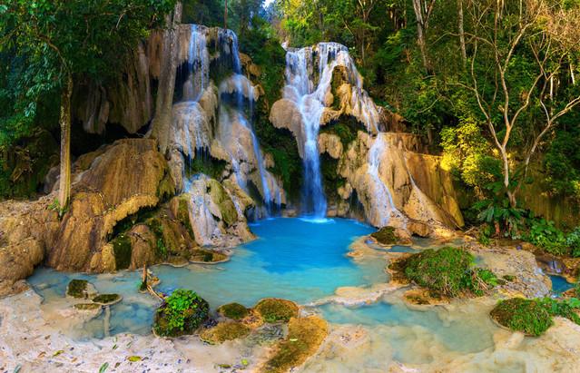 A1 87,8 x 63,1 cm Kuang Si Falls Laos DJ