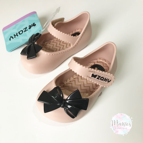 Baby Bow - Nude / Black