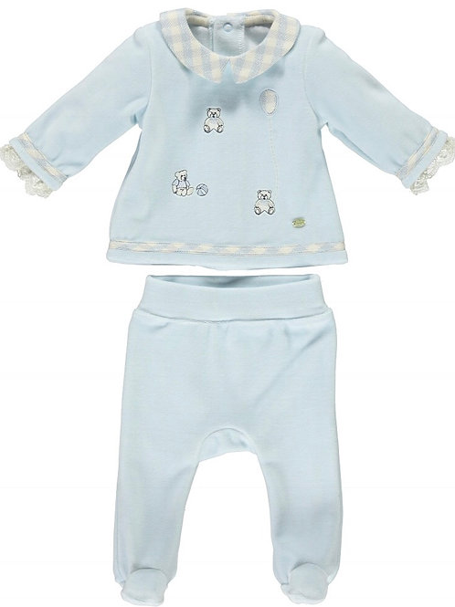 Piccola Speranza Velour Baby Suit