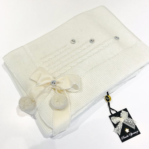 Piccola Speranza Cream Knitted Blanket