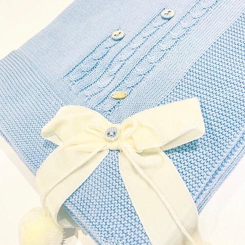 Piccola Speranza Blue Knitted Blanket