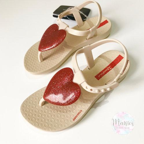 Love Sandal - Cream / Red