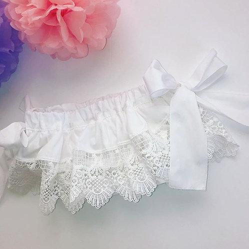 White Lace Jam Pants