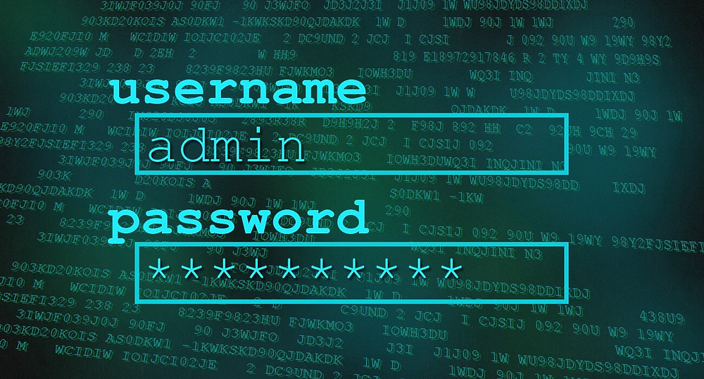 Username and password login screen