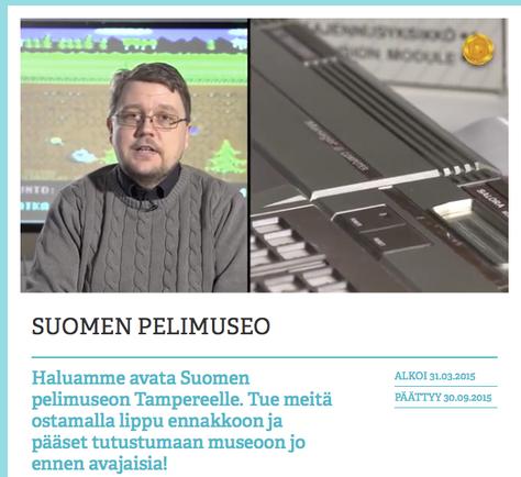 Suomen pelimuseota tukemaan!
