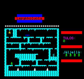 Oric-1 Home Computer Game Huimapää Jake, written in BASIC by Pasi Hytönen, 1985