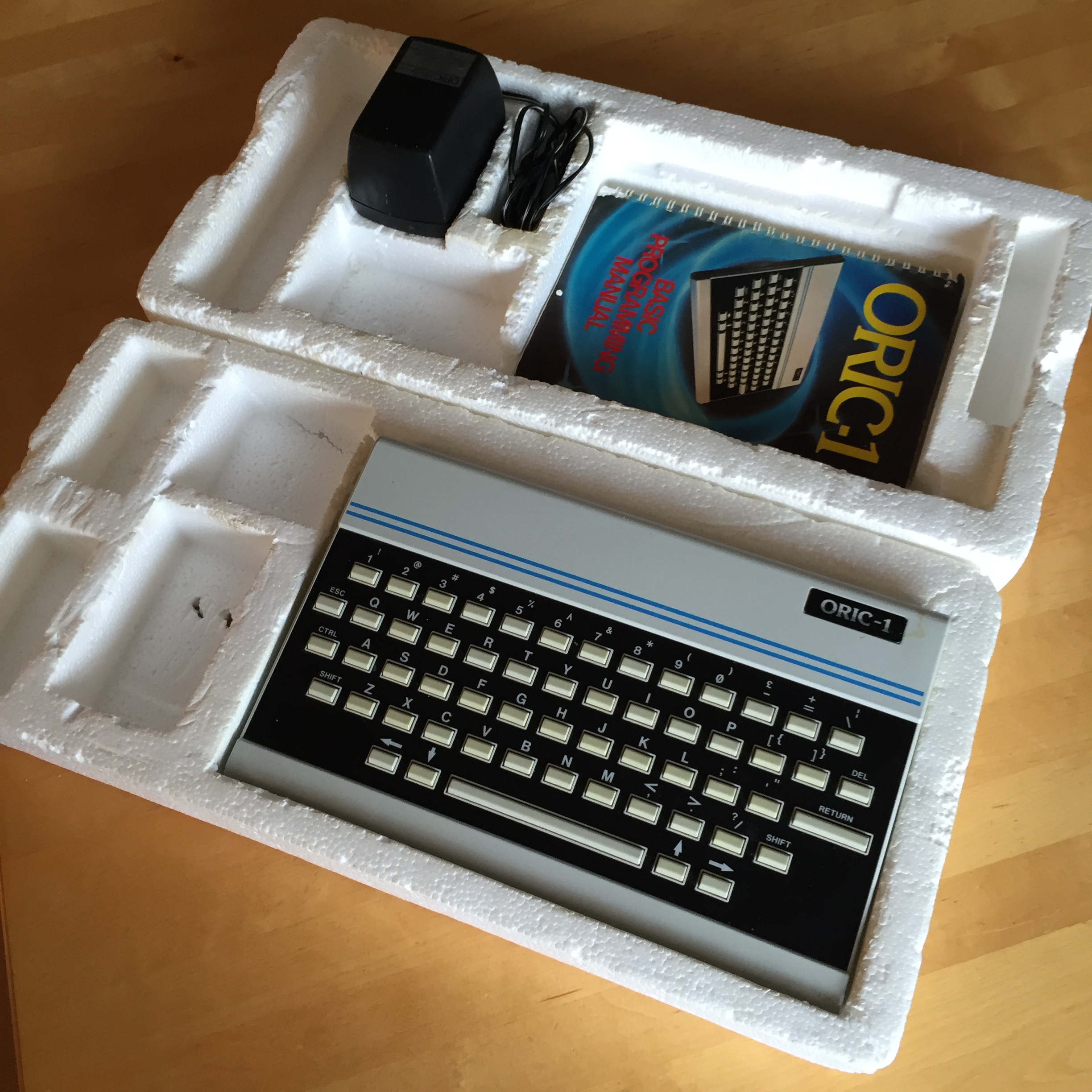 Oric-1 box opened