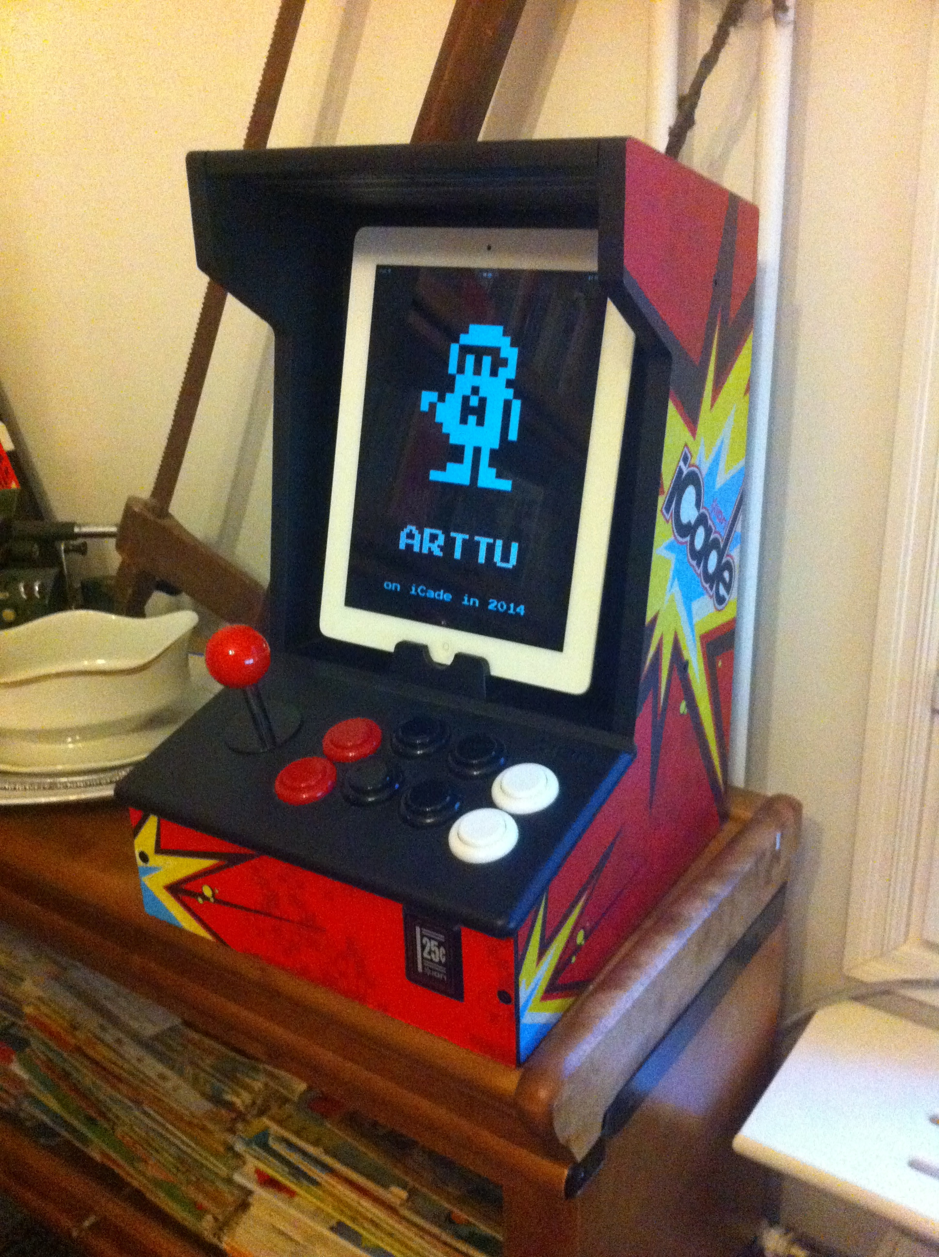 iCade cabinet for iPads