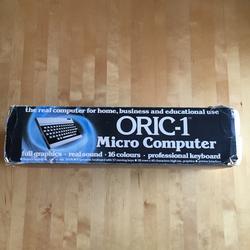 Oric-1 alkuperäinen pakkaus