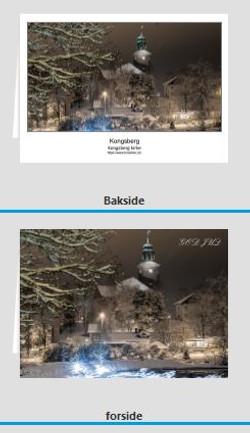 Foldekort Kongsberg kirke - begge