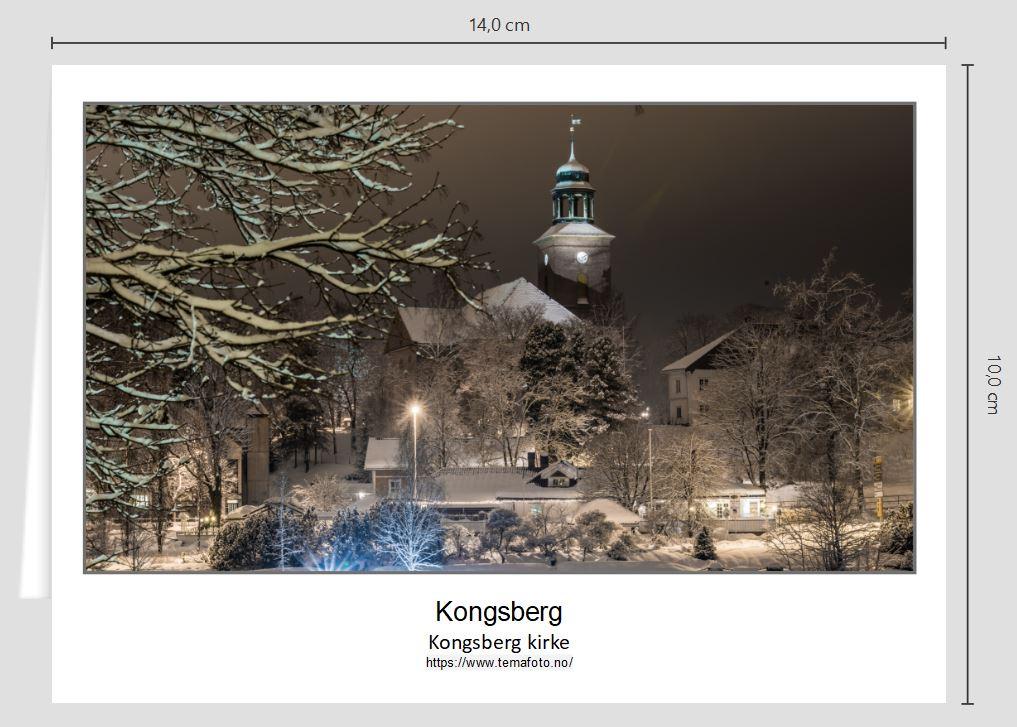 Foldekort Kongsberg kirke