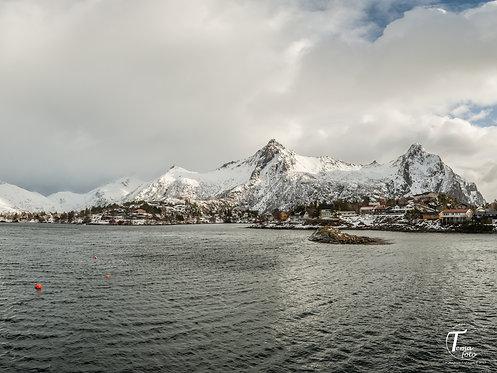 Tettsted i Lofoten