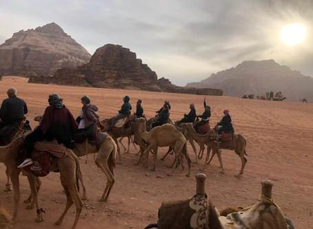 The Jordan Red Desert; Glamping in Wadi Rum