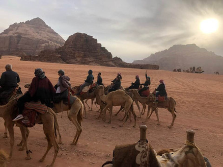 The Jordan Red Desert; Glamping in Wadi Rum