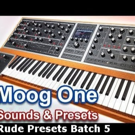 RUDE 5 Moog One PresetBank
