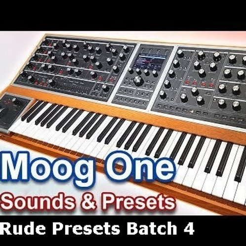 Rude4 Presets for Moog One