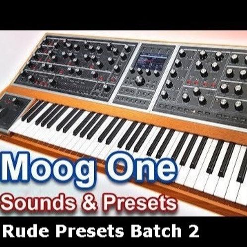 Moog One - Rude Presets Rude2