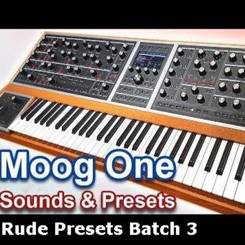 Moog One - Rude Presets Rude3