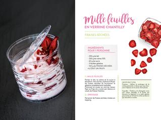 Délicieuse recette de mille feuilles à la fraise et chantilly en verrine