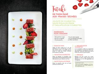 Recette originale : Tataki de thon pané aux fraises