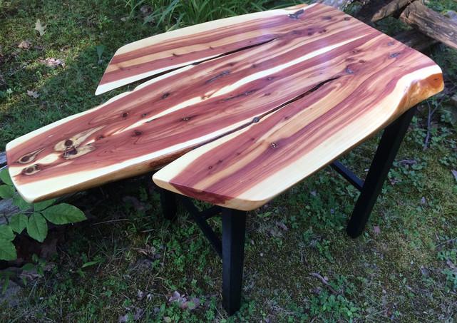 Live edge cedar table