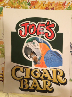 Custom airbrushed sign for bar