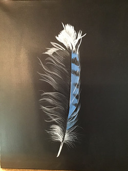 Custom airbrushed feather