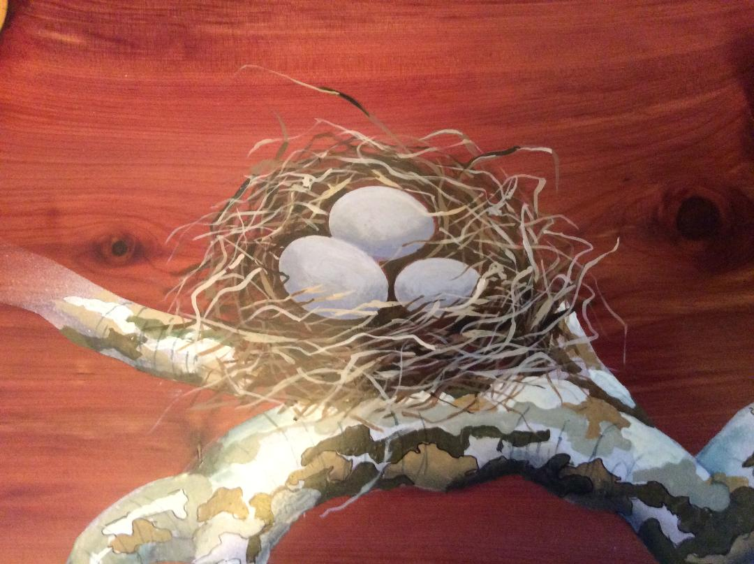 Airbrushed nest