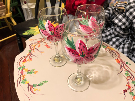 Handpainted glasses