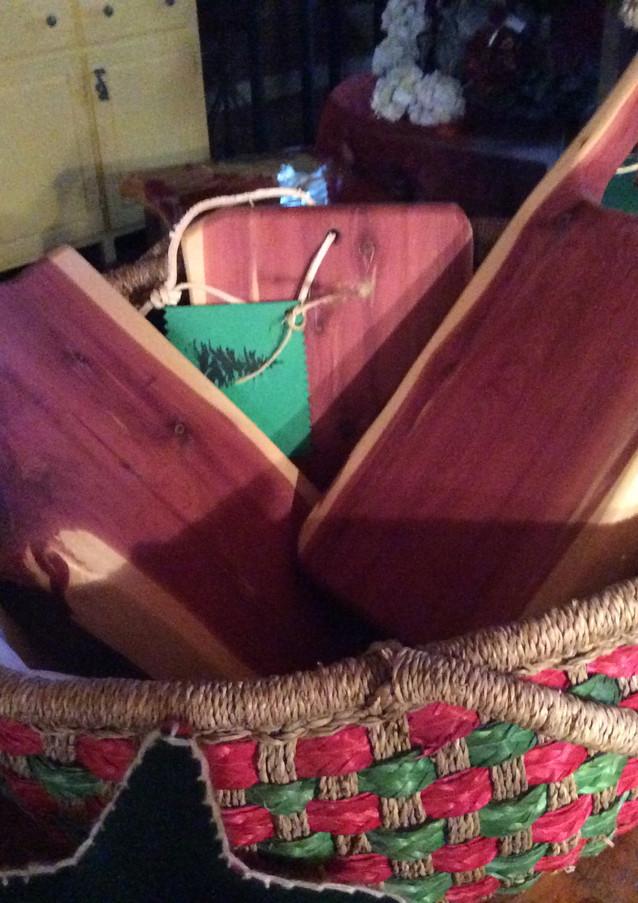 Cedar cutting boards