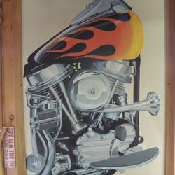 Custom airbrush of motorcycle