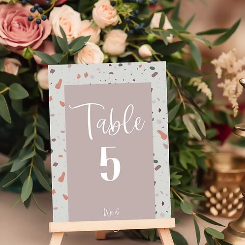 Terrazzo Table Number