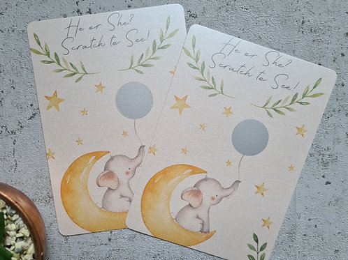 Scratch and Reveal Gender Reveal Cards
