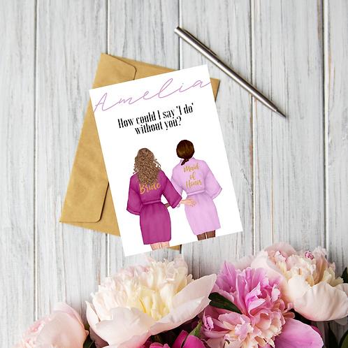 Bridesmaid / Maid of Honour proposal card