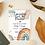 Thumbnail: Printable Boho Rainbow Baby Shower invitation