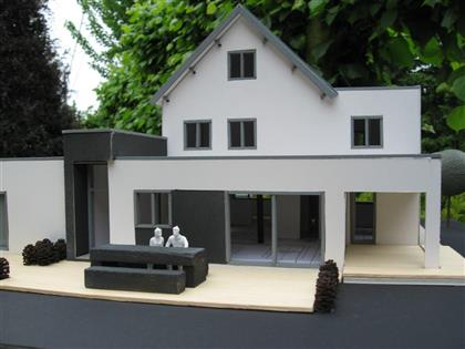 Verbouwing woning maquette