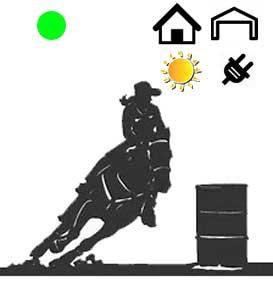 Sizzling Green Dot Barrel Racing System-Indoor