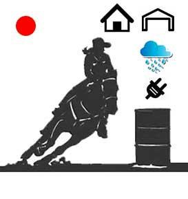 Basic Red Dot Barrel Racing System-Waterproof, Indoor