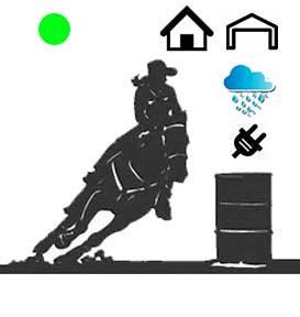 Sizzling Green Dot Barrel Racing System-Waterproof, Indoor