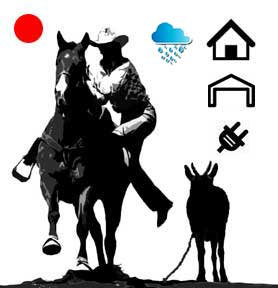 Basic Red Dot Goat Stake Marking System-Waterproof, Indoor