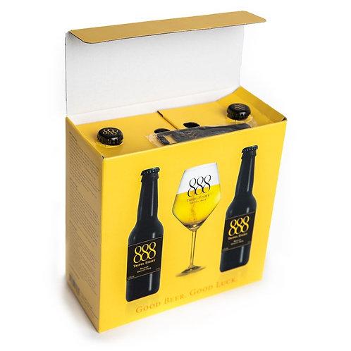 Tripel 888 Geschenk Pakket + Glas