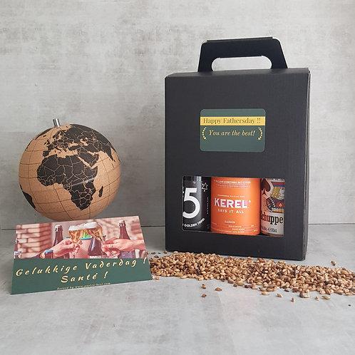 Vaderdag Bier Geschenk Pakket | 6 stk. + Kaart