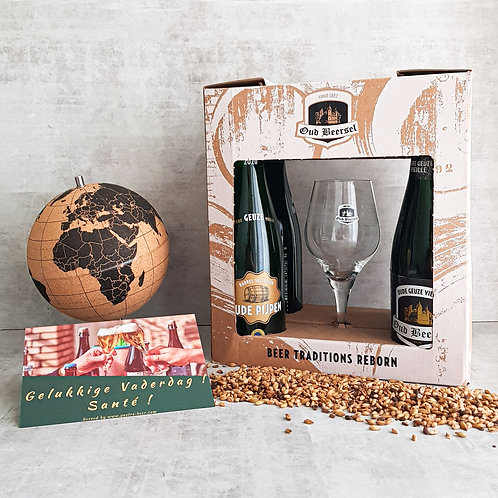 Oud Beersel Geuze Gift + Glass + Card